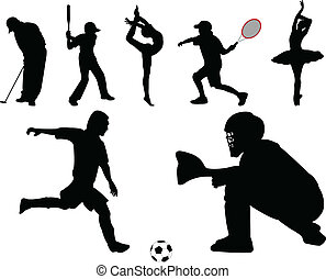 sport collection - vector - illustration of sport collection...