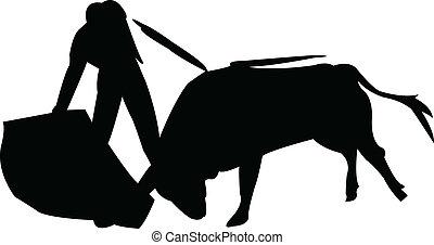 Toreador silhouette 2 - vector