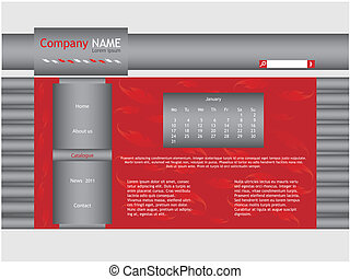 red web site template