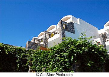 Villas at modern luxury hotel, Crete, Greece
