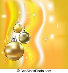 Christmas balls and stars vector background - Christmas...