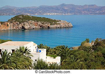 Luxury villa at modern resort, Crete, Greece