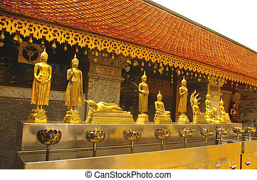 Position symbolic of the Buddha in the temple of Wat Doi...