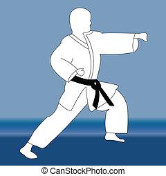 karate fighter - vector