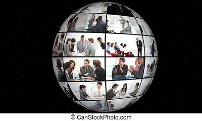 3D Animation on Businesspeople