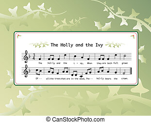 holly and the ivy - Music for the Christmas carol \'The...