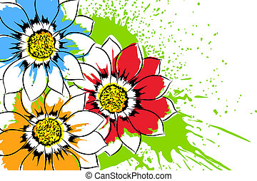 Beautiful flowers - Beautiful bright colorful flowers vector...