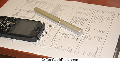 Stock Market Analysis - Business image of stock market chart...