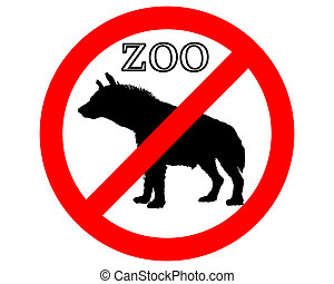 Hyena in zoo prohibited