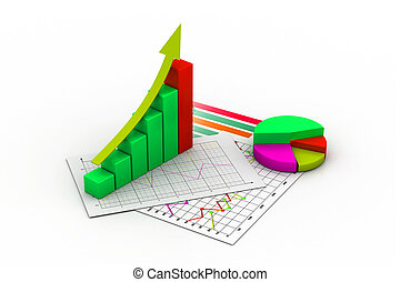 business graph, chart, diagram, bar