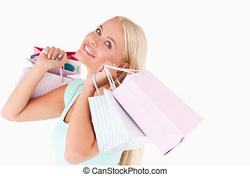 Woman enjoying her shopping