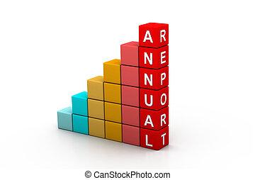 Colorful Annual report graph