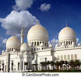 Sheikh Zayed mosque in Abu-Dhabi, UAE