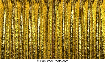 Curtain opening Gold HD - Gold Curtain opening in high...