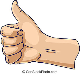 Hands showing thumb up from side - Hand showing thumbs up...