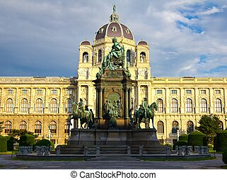 Maria Theresa Statue - Statue of Empress Maria Theresa in...
