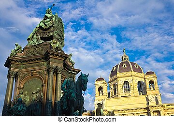 Maria Theresa Statue Low Angle - Low angel of the statute of...