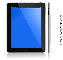 Tablet PC - Front and side view of New Tablet PC portable...