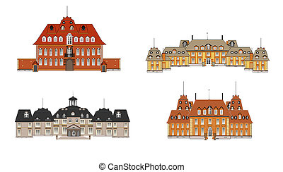four palaces vector