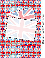 Union Jack stamps with copy space
