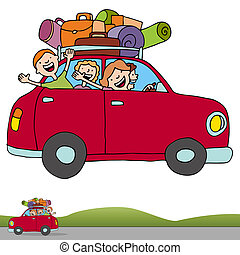 Road Trip Profile Banner - An image of a family on a road...
