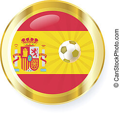 national flag of spain in circular shape with additional details