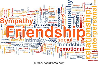Friendship background concept - Background concept wordcloud...