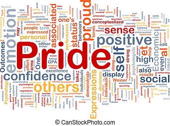 Orgullo, Plano de fondo, concepto