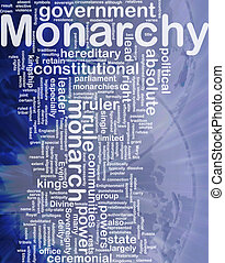Monarchy background concept - Background concept wordcloud...