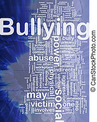 Bullying background concept - Background concept wordcloud...