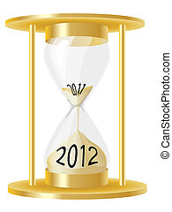 Hour glass 2012 - A vector illustration of a hour glass...