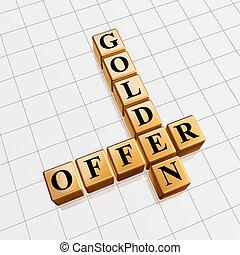 golden offer like crossword