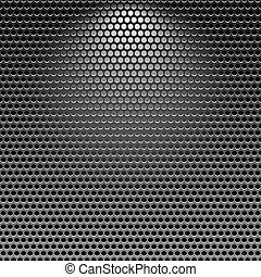 Dark stainless grille metal texture background with light...