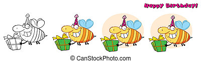 Bday Grinning Bumbe Bee. Collection