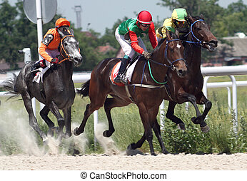 """Horse racing. - The race for the prize of the """"Russia..."""