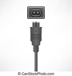 European Power Plug - European Power 2 pin C7 plug socket...