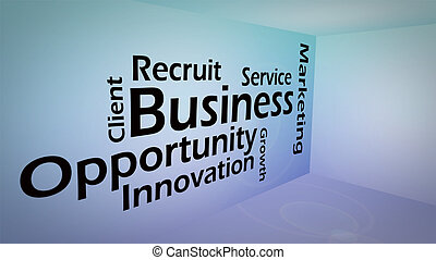 Creative image of business opportunity concept
