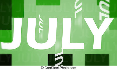 Creative image of July concept