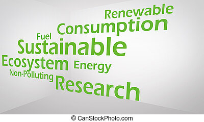 Creative image of green economy concept