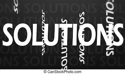 Creative image of solution concept