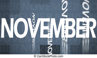 Creative image of November concept