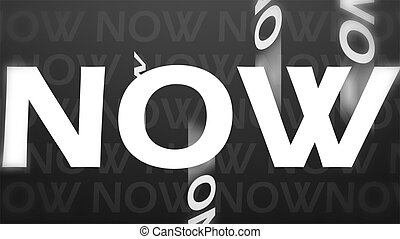 Creative image of now concept