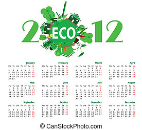calendar eco for 2012 year