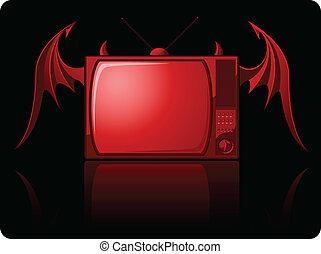 Red Evil retro TV