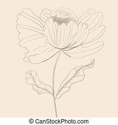 Stylized flower