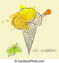 Stylized illustration ice cream