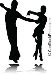 Dance silhouette - vector
