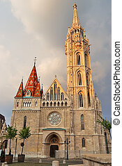 Budapest, ST Matthias in the old town on the Buda hill