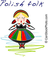 Polish regional folk - vector - Beauty Polish National...