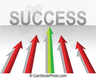 business arrows target success